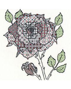 Craft Rose Blackwork Stitch Kit
