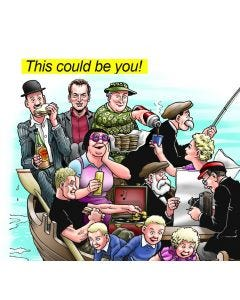 The Broons Boat Trip - Personalised Print & Canvas Colour