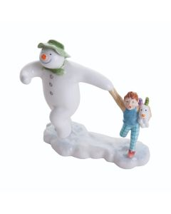 The Snowman Taking Off