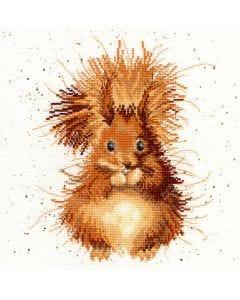 Wrendale Counted Cross Stitch: Squirrel