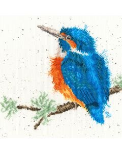 Wrendale Counted Cross Stitch: Kingfisher