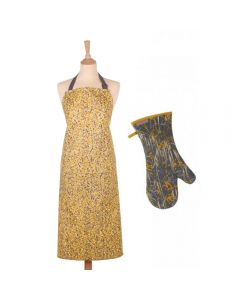 Ulster Weavers Clarissa Hulse Garland Yellow Cotton Apron & Gauntlet Set