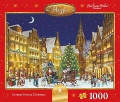 The German Town At Christmas Jigsaw Puzzle