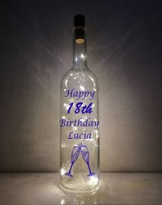18th Light-up Bottle
