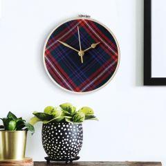 Brave Heart Tartan Clock