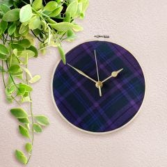 Spirit of Scotland Tartan Clock