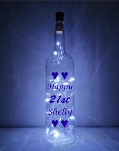 21st Light-up Bottle