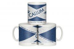 Scottish Flag Shabby Chic Mug