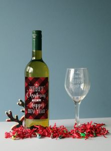 Merry Christmas White Wine Gift Set