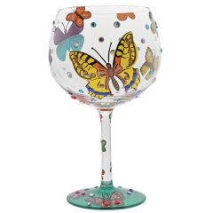 Butterflies Gin Glass
