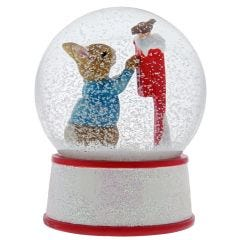 Peter Rabbit Santa Snow Globe