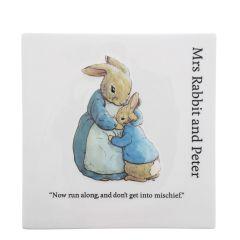 Mrs Rabbit & Peter Wall Plaque