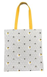 Bee Happy Cotton Tote Bag