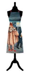 Beryl Cook My Fur Coat Cotton Apron