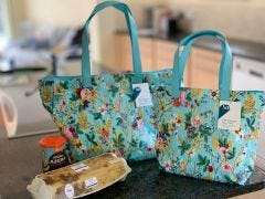 Blue Chintz Mini PVC Shopper Bag