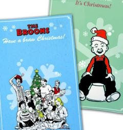 The Broons & Oor Wullie Christmas Tea Towel Pack