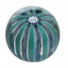 Caithness Thistle Crown Paperweight - Green