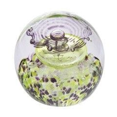 Caithness Thistle Shades Purple Paperweight