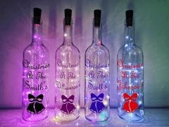 Christmas Bell Bottle Lamp