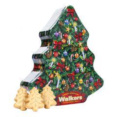 Walkers Christmas Tree Shaped Tin