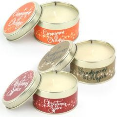 Cinnamon & Orange, Christmas Spice and Frankincense & Myrrh Candle Pack