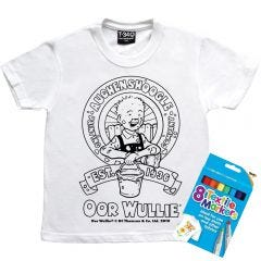 Oor Wullie Colour Your Own Kids T-shirt