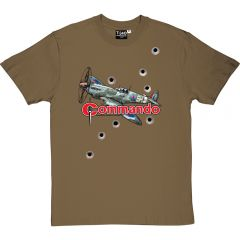 Commando Spitfire Bullet Hole T-Shirt