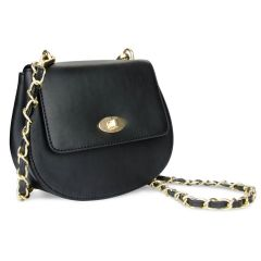 The Cross Body Bag in Raven Black Leather