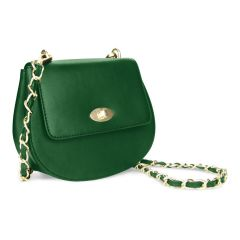 The Cross Cross Body Bag in Green Leather