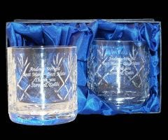 Crystal Whisky Tumblers In Presentation Box