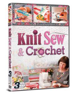 Knit Sew & Crochet 3 DVD Set