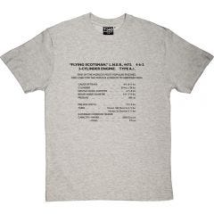 The Flying Scotsman Specifications T-shirt
