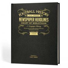 A3 Football Newspaper Book - Hearts