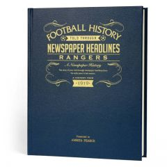 A3 Leather Cover Football Newspaper Book - Rangers