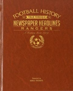 Football Newspaper Book - Rangers