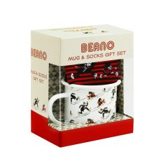 Beano Enamel Mug and Socks Gift Set