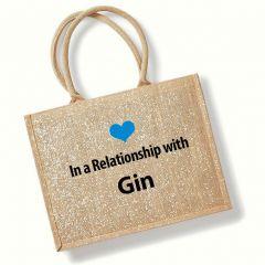 Prosecco or Gin Jute Bag