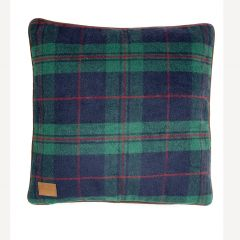 Green Tweed Filled Cushion