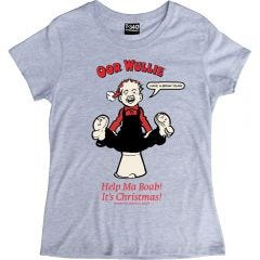 Oor Wullie Help Ma Boab Christmas Ladies T-shirt