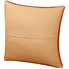 100% Cotton Cushion Back With Zipper