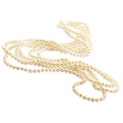 100cm Clasples White Freshwater Cultured Pearl Necklace