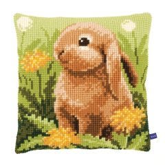 Bunny Rabbit Cross Stitch Cushion Kit