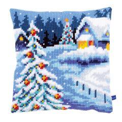 Snowy Path Cross Stitch Cushion Kit