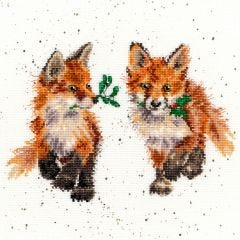 Foxy Glad Tidings Counted Cross Stitch Kit