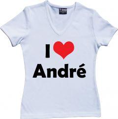 I Love André Rieu Ladies V-Neck T-shirt