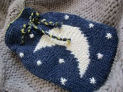 Moon and Star Hot Water Bottle Cover Pattern