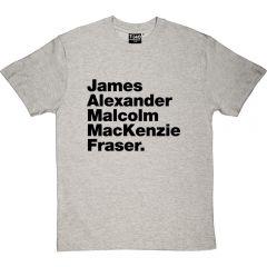 Outlander-style Jamie Fraser T-shirt
