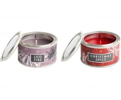 Log Fire & Christmas Spice Candle Pack