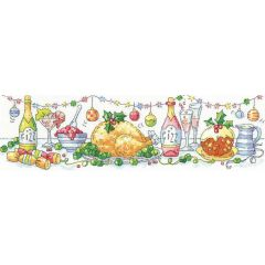 Karen Carter: Christmas Dinner Counted Cross Stitch Kit