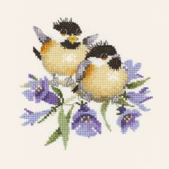 Valerie Pfeiffer: Bluebell Chick Chat Counted Cross Stitch Kit